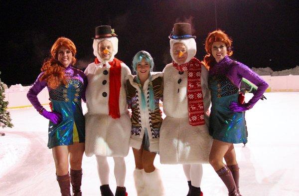 snowmen and girls