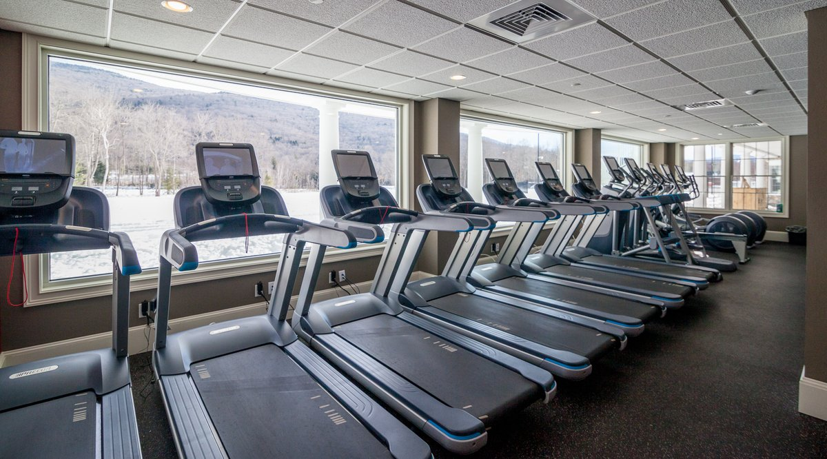 Treadmills Overlooking South Peak at Loon Mountain